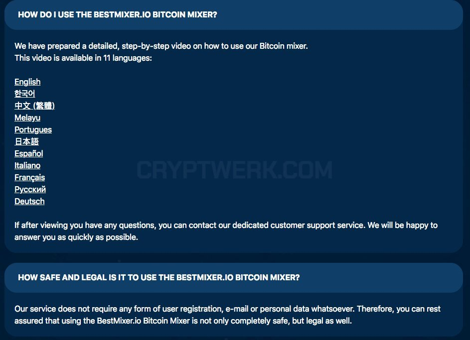 Bestmixer io - reviews, contacts & details   Mixers   Crypto services