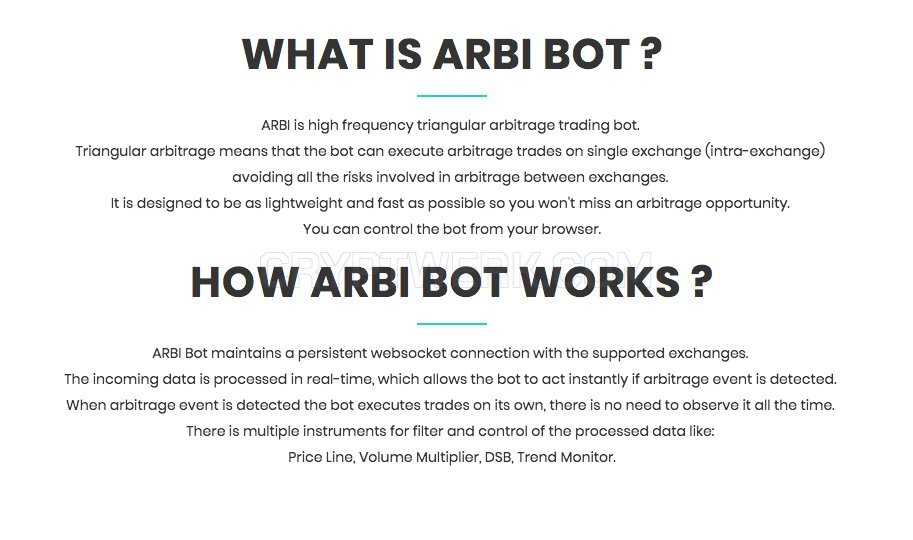 ARBI BOT - reviews, contacts & details | Buy / Sell | Crypto