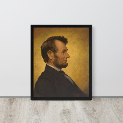 Abraham Lincoln Portrait Framed Poster